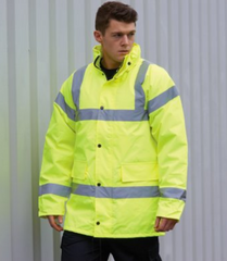 Hi Vis Site Jacket (Small print on left breast and larger print on Back)