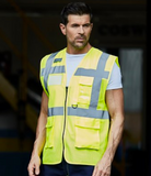 Hi Vis Vest Executive (small print on left breast and larger print on back)