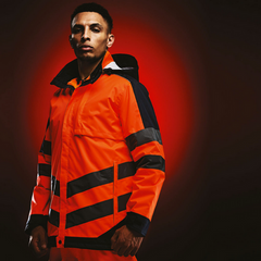 Printed Hi Vis Pro Contrast Insulated Jacket