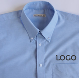 Embroidered Oxford Work Shirt Long Sleeve