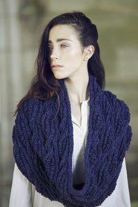 Brooklyn Long Cowl / Snood : Lalland Lambswool : Handknitted in Scotland