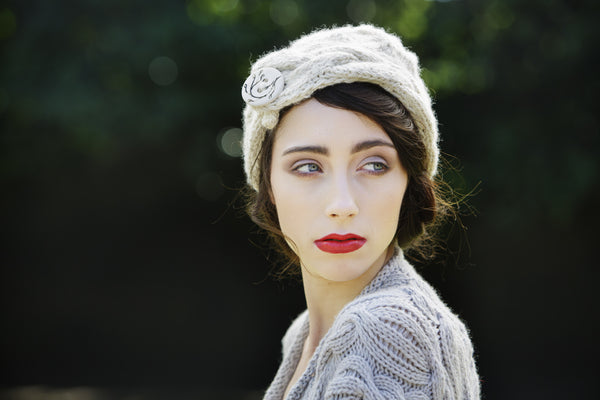 Angel Bonnet : British Breeds Wool : Hand Knitted in Scotland