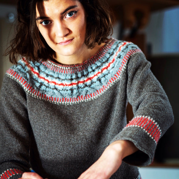 Geo Yoked Fair Isle Sweater : Pattern