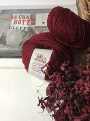 Ruby Red : Lalland 100% Scottish Lambswool