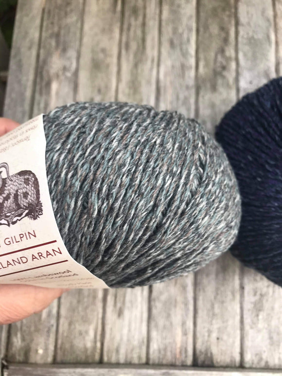 Storm : Lalland Aran 100%  Lambswool Spun in Scotland