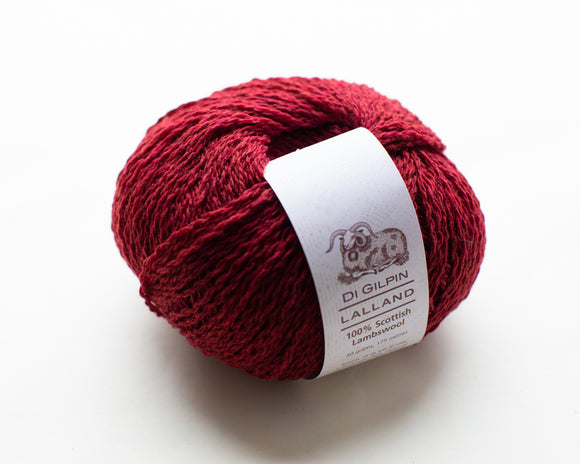 Ruby Red : Lalland DK 100%  Lambswool Spun in Scotland