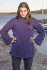 Argyll Tunic in  Amethyst Lalland Lambswool.