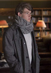 Brooklyn Long Snood : Lalland Lambswool : Handknitted in Scotland