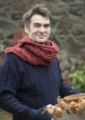 Brooklyn Short Snood : Handknitted in Scotland : Lalland Lambswool