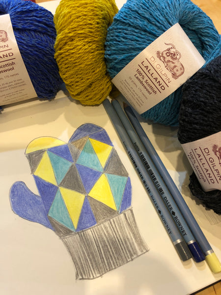 Workshop : Intarsia Knitting Techniques for Di Gilpin Harlequin Mittens