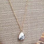 Natural White Stone Necklace