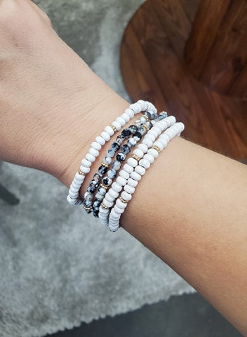 Black & White Natural Stone bracelet