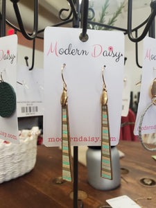 Multicolor Bar Earring