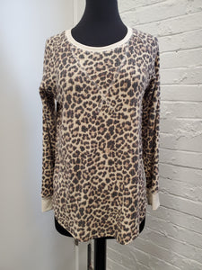 Long Sleeve Cheetah Top