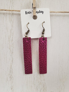 Pink Hanging Bar Earrings