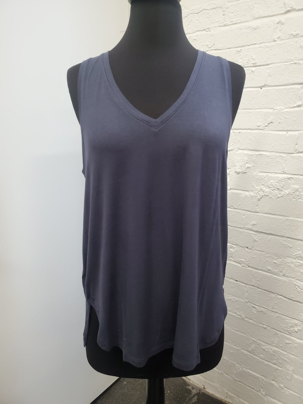 Basic Navy V-Neck Tank