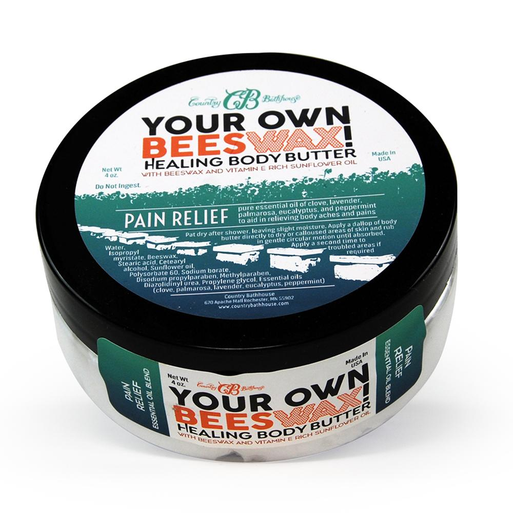 Your Own Beeswax Body Butter-Pain Relief