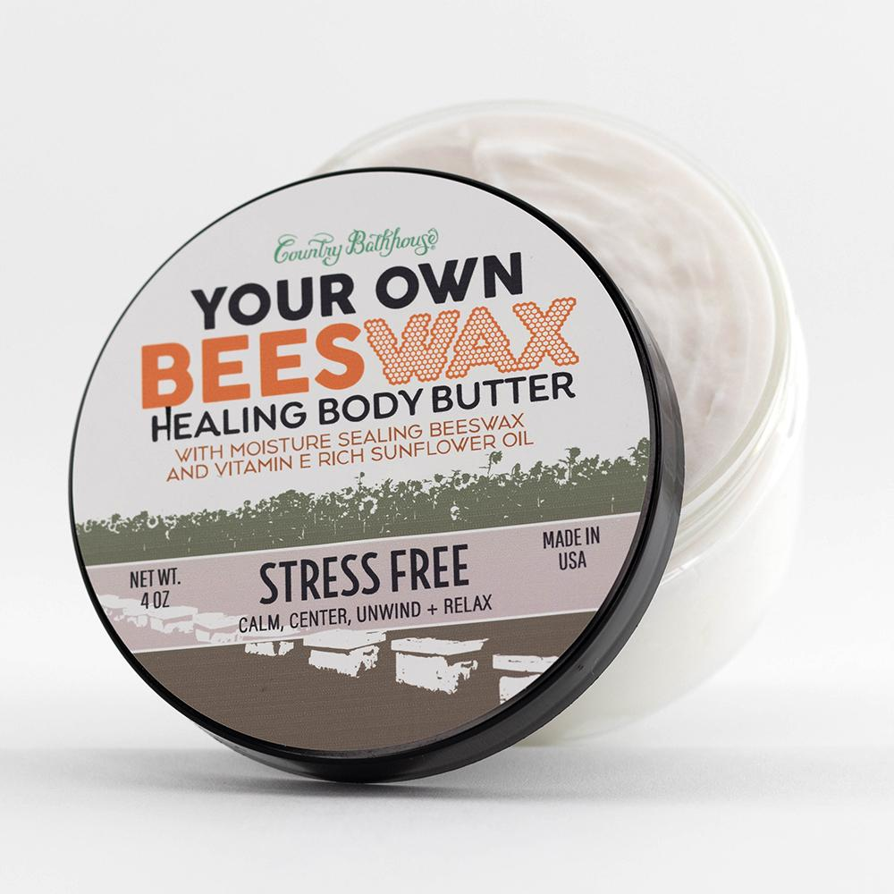 Your Own Beeswax Body Butter-Stress Free