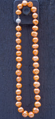 Freshwater necklace - peach