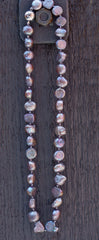 Freshwater Necklace - Grey