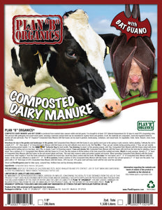 Composted Dairy Manure with Bat Guano