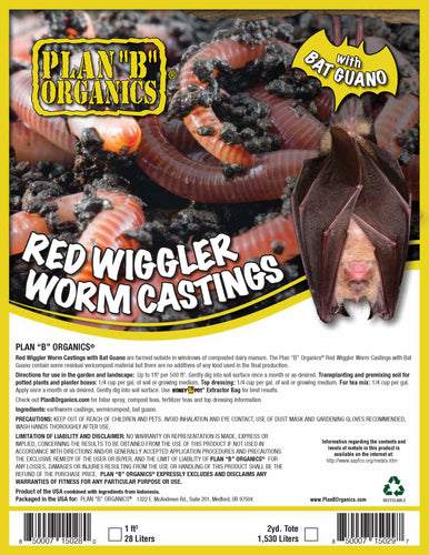 Red Wriggler Worm Castings with Bat Guano