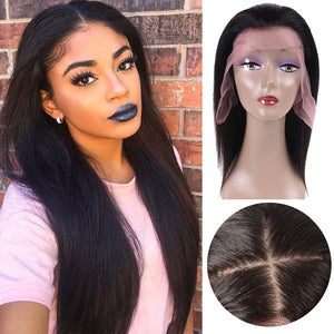 Brazilian Remy, lace front human hair wig with silk base top - allthingsluvly.com