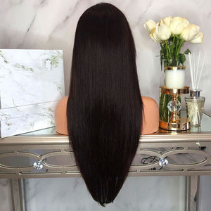 100% Brazilian Remy, full lace human hair wig (pre-plucked, with silk base top, baby hair) - allthingsluvly.com