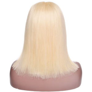 Blonde Lace Front Wig- 613 Short Bob Human hair Wigs Brazilian Straight Remy Hair - allthingsluvly.com