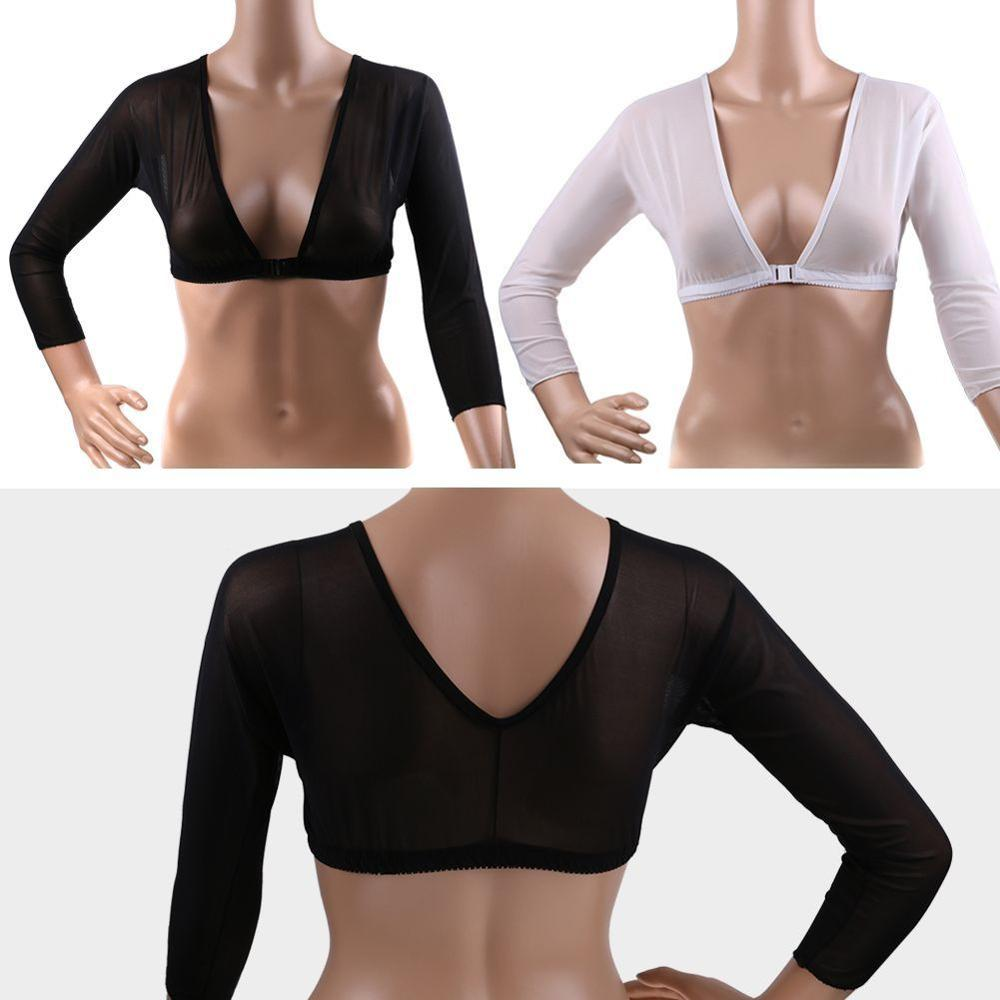 Arm shaper seamless  Amazing Arm Sleeve Sexy Crop Tops Slimming Control Shapewear Women Shapers body shaper Shapewear - allthingsluvly.com