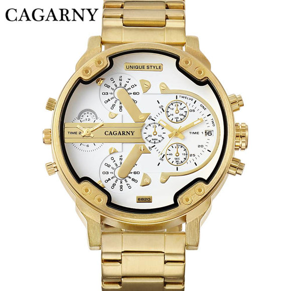 TechNiche Luxury Watch for Men Gold Steel Bracelet Strap Quartz