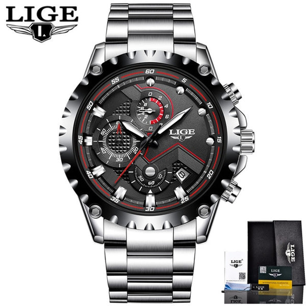 TechNiche Men's Fashion Sport Quartz Watch Clock Luxury Full Steel Waterproof
