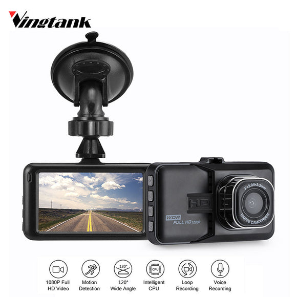 TechNiche Vingtank 3 inch Dash Camera Car DVR Dash Cam Video Recorder HD 1080P Camcorder Night Vision Motion Detection Loop Recording