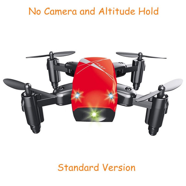 TechNiche S9HW Mini Drone With Camera S9 No Camera RC Quadcopter Foldable Drones Altitude Hold RC Quadcopter WiFi FPV Pocket Dron VS CX10W