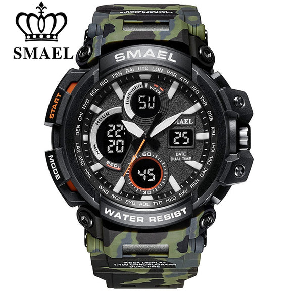 TechNiche Military Watch for Men Waterproof Dual Time Display Sport Wristwatch Digital Analog Quartz Watches