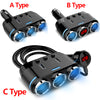 TechNiche 12V-24V Car Cigarette Lighter Socket Splitter Plug LED USB Charger Adapter 3.1A 100W Detection For Phone MP3 DVR Accessories