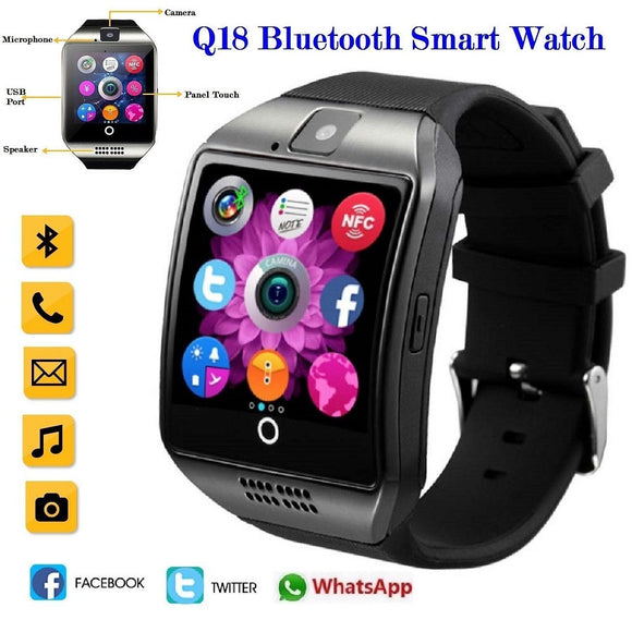 TechNiche Unisex Q18 Bluetooth Smart Watch Health Monitor Sports All Smart functions