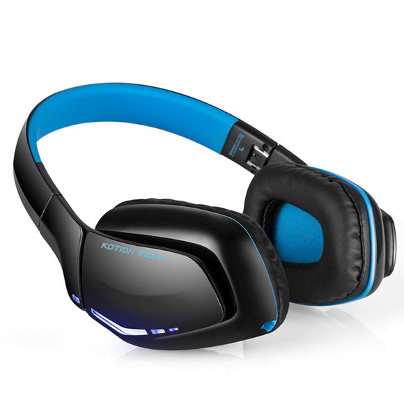 TechNiche Bluetooth Wireless Stereo Music Gaming Foldable Headphone w/ MIC Line-IN