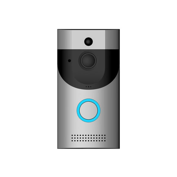 TechNiche WiFi Wireless Video Camera Door Bell Phone Doorbell Intercom APP Remote Control PIR Detection IR Night Vision for IOS Android (Silver)