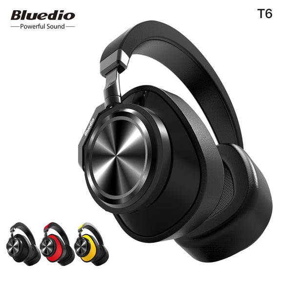 TechNiche Active Noise Cancelling Headphones Wireless Bluetooth Headset with microphone for phones and music