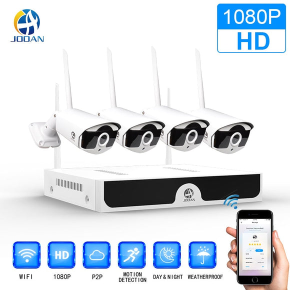TechNiche Wireless CCTV System 1080P 1TB HDD 2MP 4CH NVR IP IR-CUT outdoor CCTV Camera IP Security System video Surveillance Kit