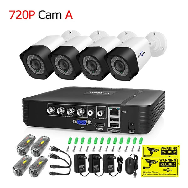 TechNiche CCTV camera System 4CH 720P/1080P AHD security Camera DVR Kit CCTV waterproof Outdoor home Video Surveillance System HDD