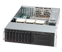 Supermicro SC835TQ-R800B Rack Black 800 W