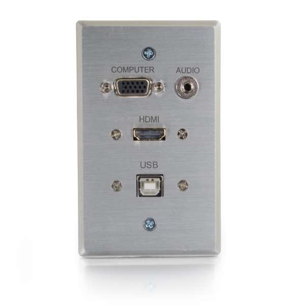 C2G 60140 cable interface/gender adapter HDMI, HD15, USB-B, 3.5mm RapidRun, HD15, 3.5mm, USB-A Aluminium