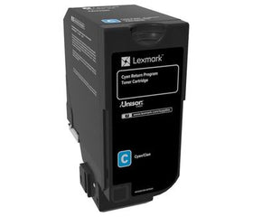 Lexmark 74C10C0 toner cartridge Original Cyan 1 pcs