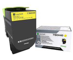 Lexmark 71B0H40 toner cartridge Original Yellow 1 pcs