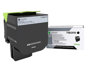 Lexmark 71B0X10 toner cartridge Original Black 1 pcs