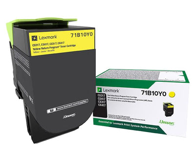 Lexmark 71B10Y0 toner cartridge Original Yellow 1 pcs