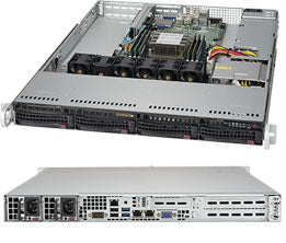 Supermicro SuperServer 5019P-WT Intel C622 LGA 3647 1U Black