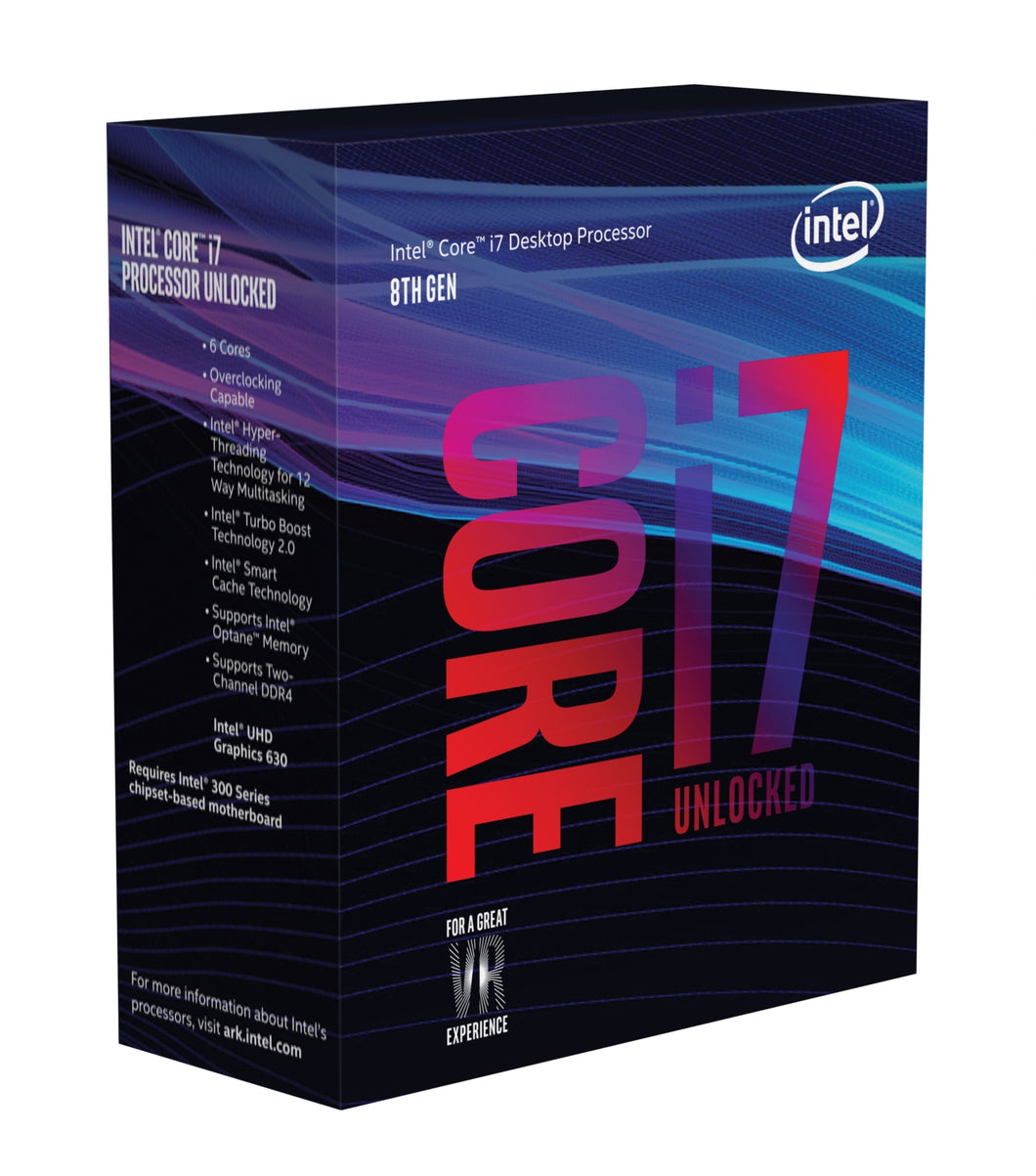 Intel Core i7-8700K processor 3.7 GHz Box 12 MB Smart Cache